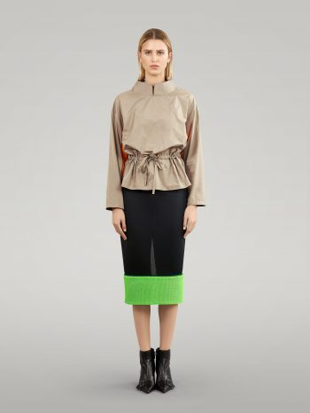 MESH PENCIL SKIRT WITH NEON ELEMENT