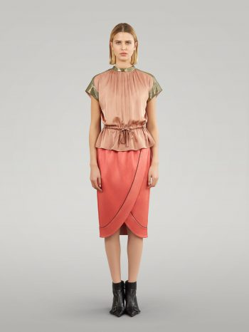 CREPE SATIN TULIP SKIRT