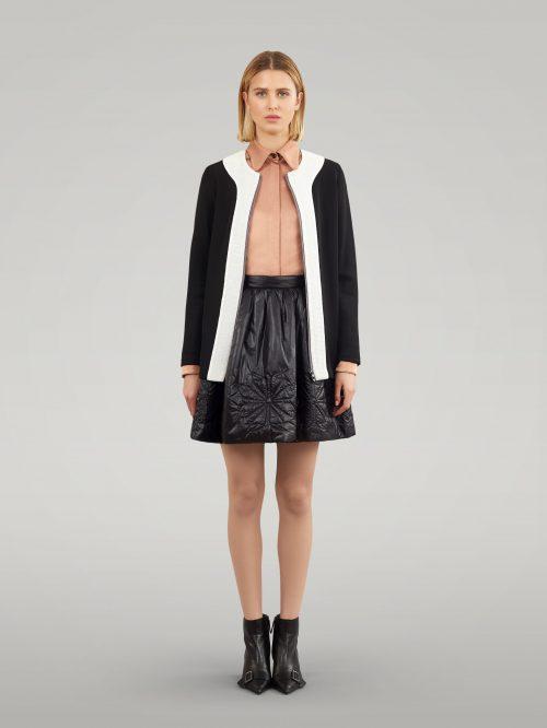 Black knitted jacket
