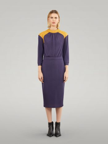 JERSEY DRESS WITH THREE QUARTER SLEEVES