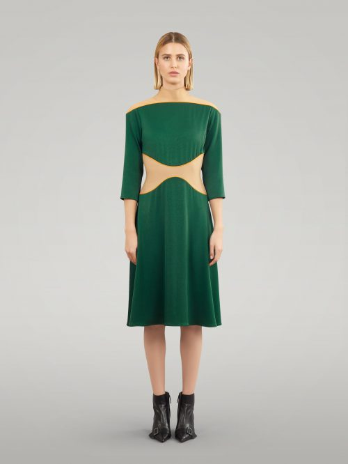 Crepe Satin Dress
