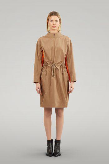 TAFFETA DRESS WITH STRING BELT