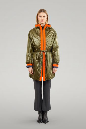 WATERPROOF OVERSIZE COAT WITH NEON ELEMENT