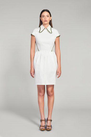 WHITE POPLIN COTTON DRESS