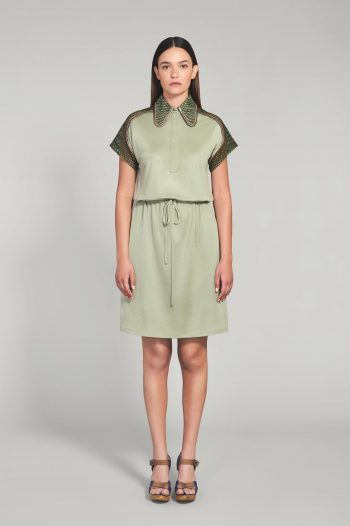 PALE GREEN JERSEY DRESS