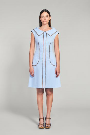 POWDER BLUE COTTON POPLIN DRESS