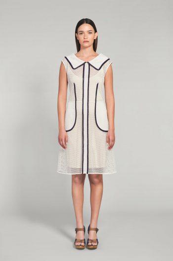 OFF WHITE MESH DRESS