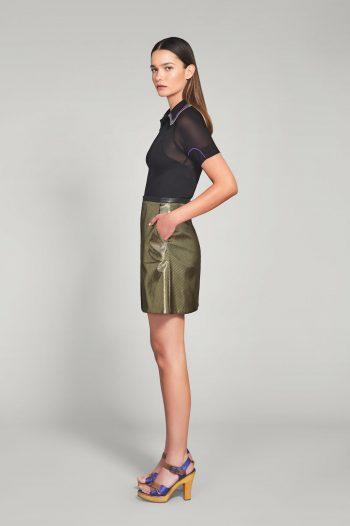 Gold lamé skirt