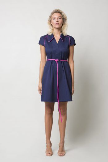 Dark Blue Denim Cotton Dress