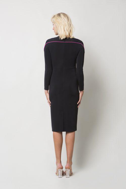 Black jersey dress