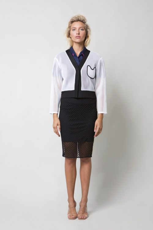 White mesh jacket