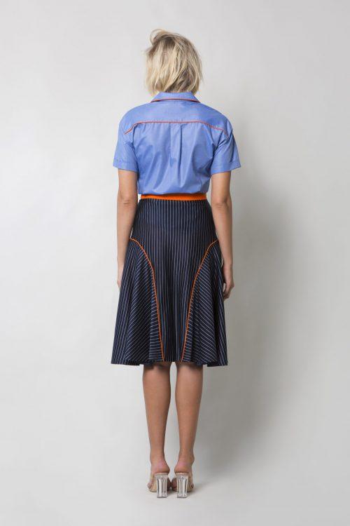 Stripes cotton skirt