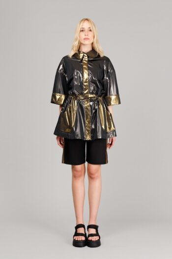 OVERSIZE METALLIC COAT